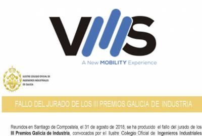 VMS Automotive, spinout del Grupo Marsan, galardonada en los PREMIOS GALICIA DE INDUSTRIA