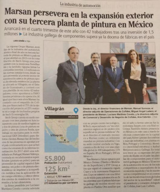 Grupo Marsan abrirá a finales de 2019 su tercera planta en México